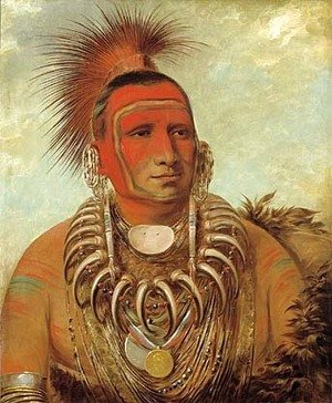 George Catlin - Shon-ta-yi-ga, Little Wolf, a Famous Warrior