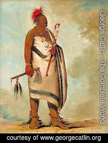 Shonka Sabe (Black Dog). Chief of the Hunkah division of the Osage tribe