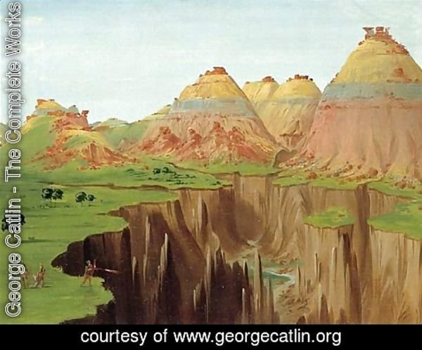 George Catlin - Brick Kilns Clay Bluffs 1900 Miles above St Louis 1832