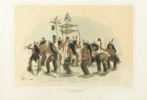 George Catlin - The Snow-Shoe Dance And Ball Play