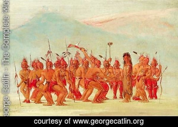 George Catlin - Dance to the Berdache (Sac and Fox)