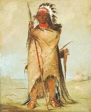 George Catlin - Ho-ra-to-a, a Brave, Fort Union (Crow-Apsaalooke)