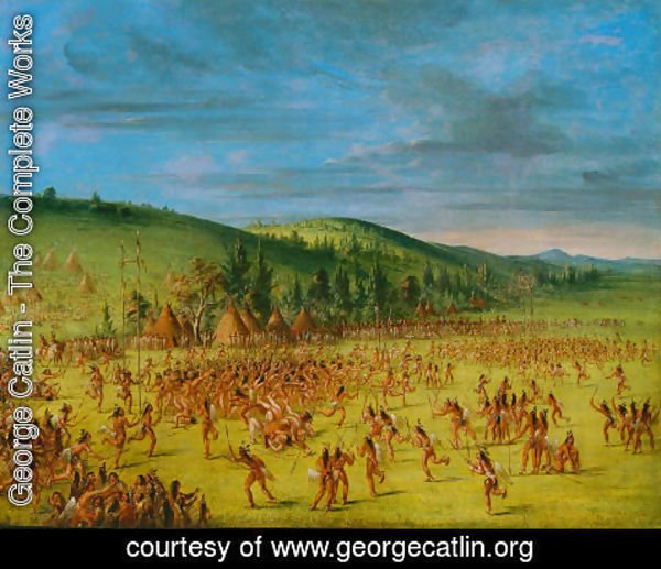 George Catlin - Ball-play of the Choctaw--Ball Up