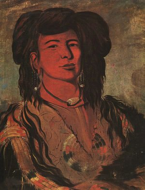 George Catlin - The Dakota Chief- One Horn, 1832
