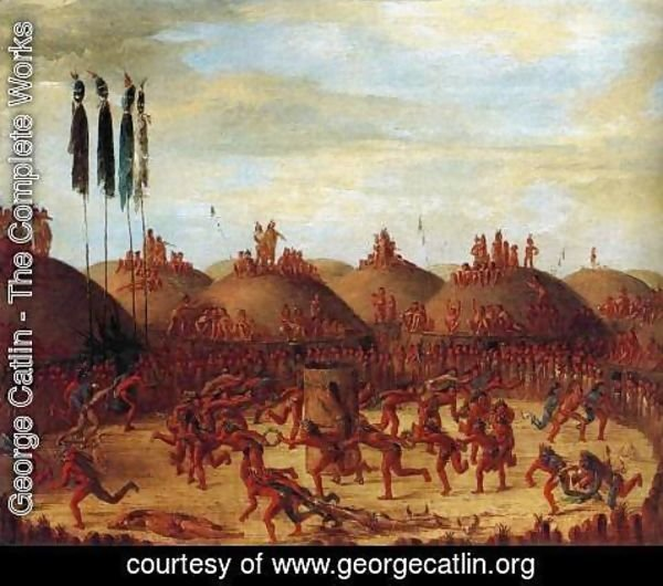 George Catlin - The Last Race, Mandan O-Kee-Pa Ceremony 1832